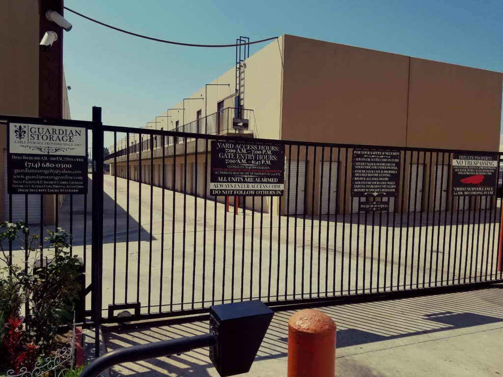 Secure Storage Units In Fullerton Ca Guardian Storage