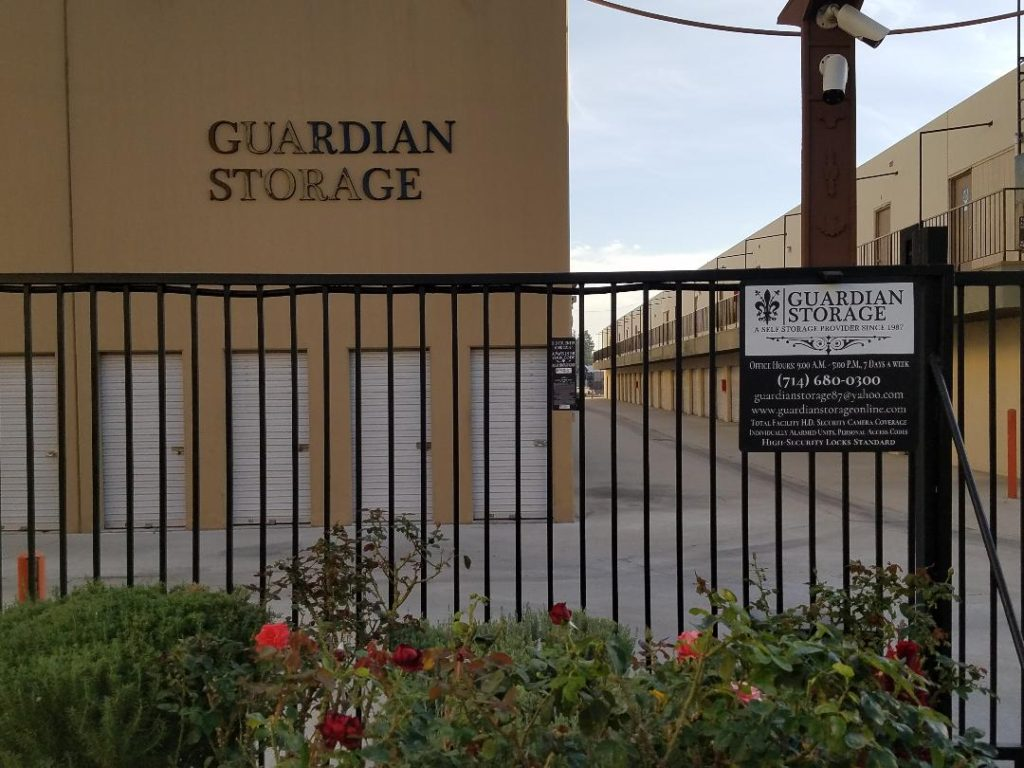 Guardian Storage Sign and Entry Gate