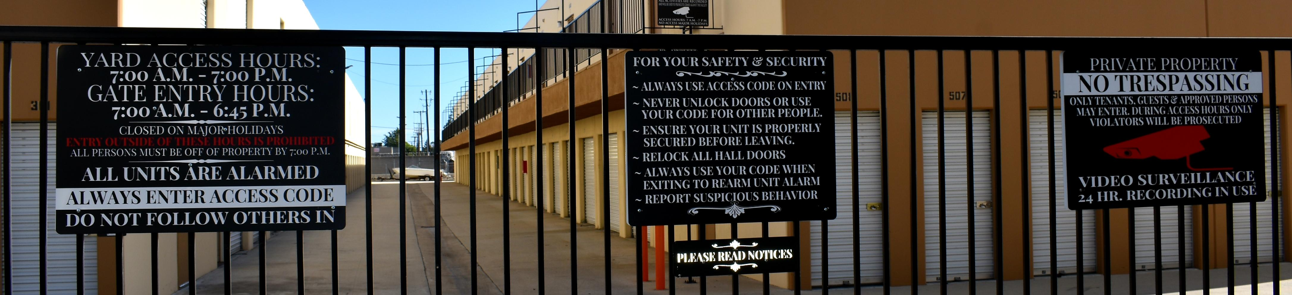 Guardian Storage Fullerton Anaheim Security Policies Security Features