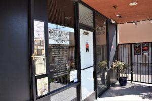Guardian Storage office entry in Fullerton, CA near Anaheim, CA
